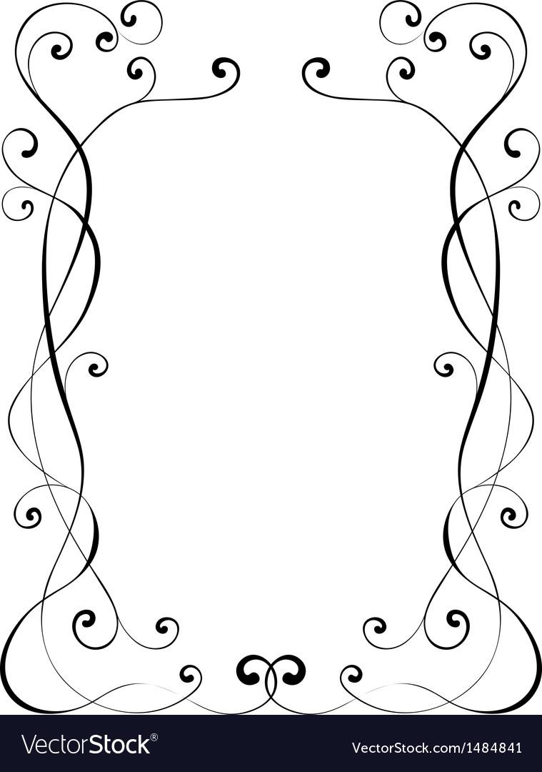 Calligraphy ornamental decorative frame vector | Price: 1 Credit (USD $1)