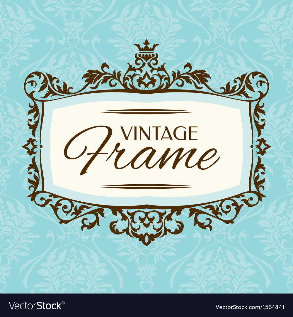 Floral retro frame vector | Price: 1 Credit (USD $1)