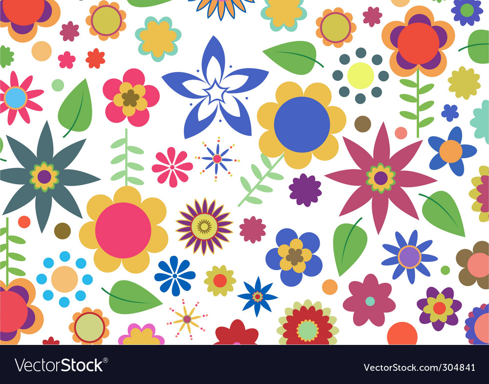 Funky floral pattern vector | Price: 1 Credit (USD $1)