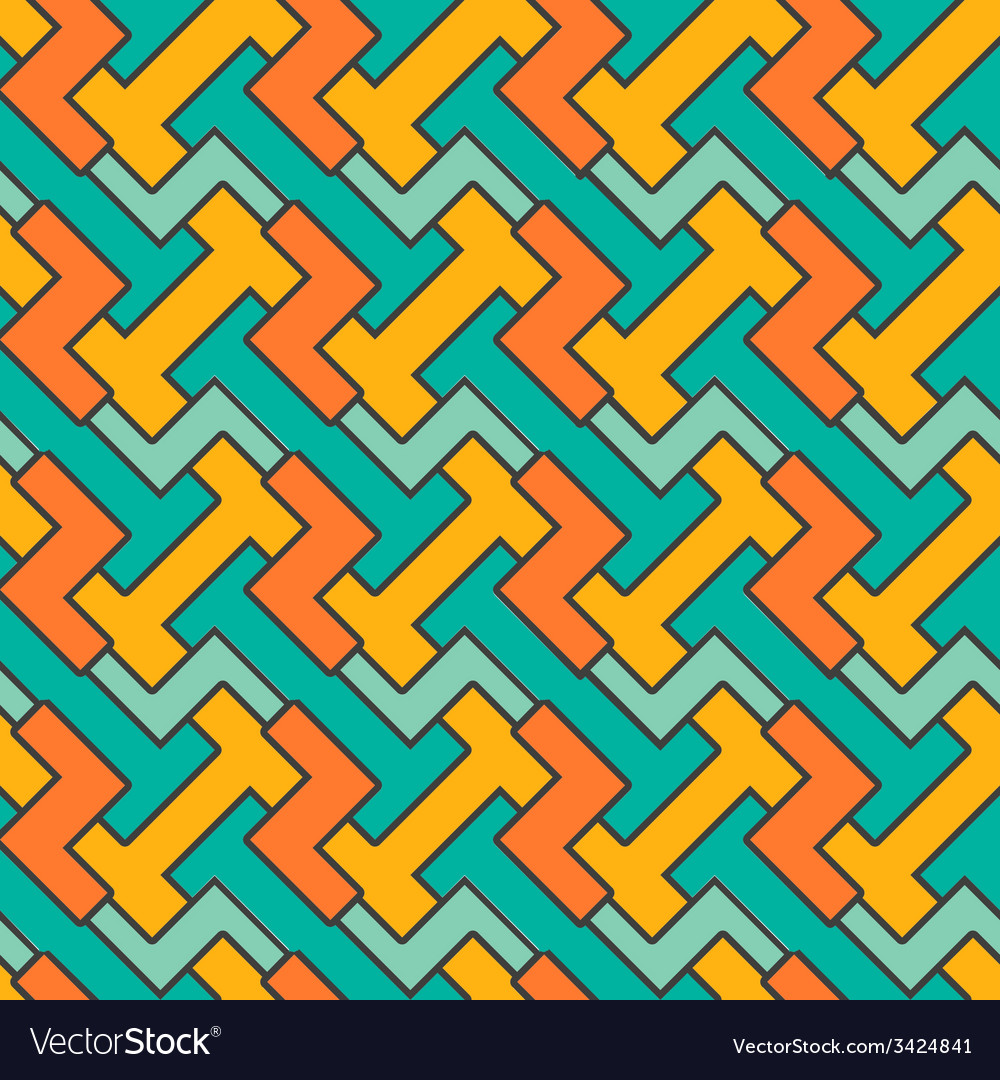 Geometric mosaic pattern seamless abstract vintage vector | Price: 1 Credit (USD $1)