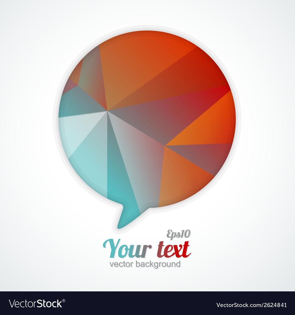 Modern banner design template for text vector