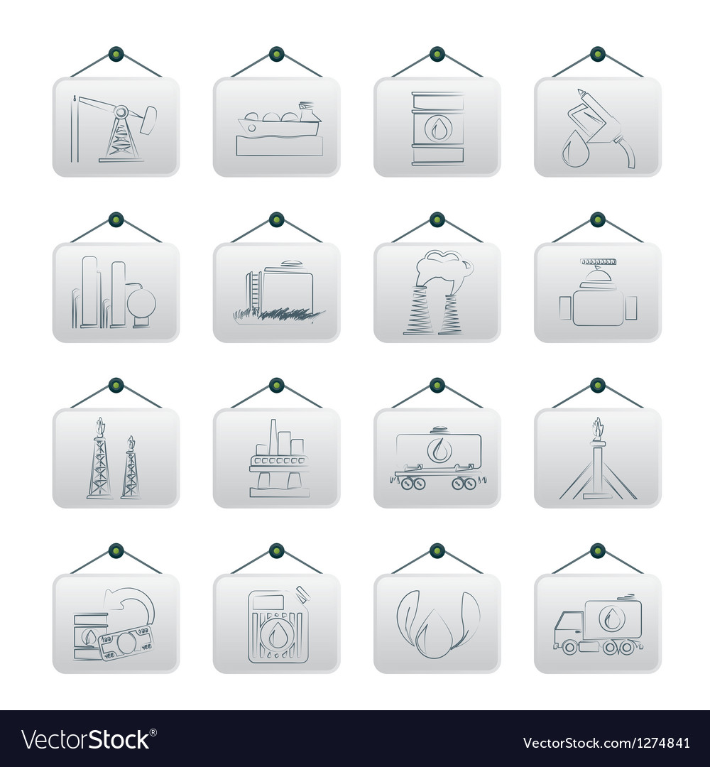 Petrol and oil industry icons vector   Price: 1 Credit (USD $1)