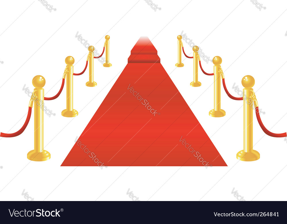 Red carpet and velvet rope vector | Price: 1 Credit (USD $1)