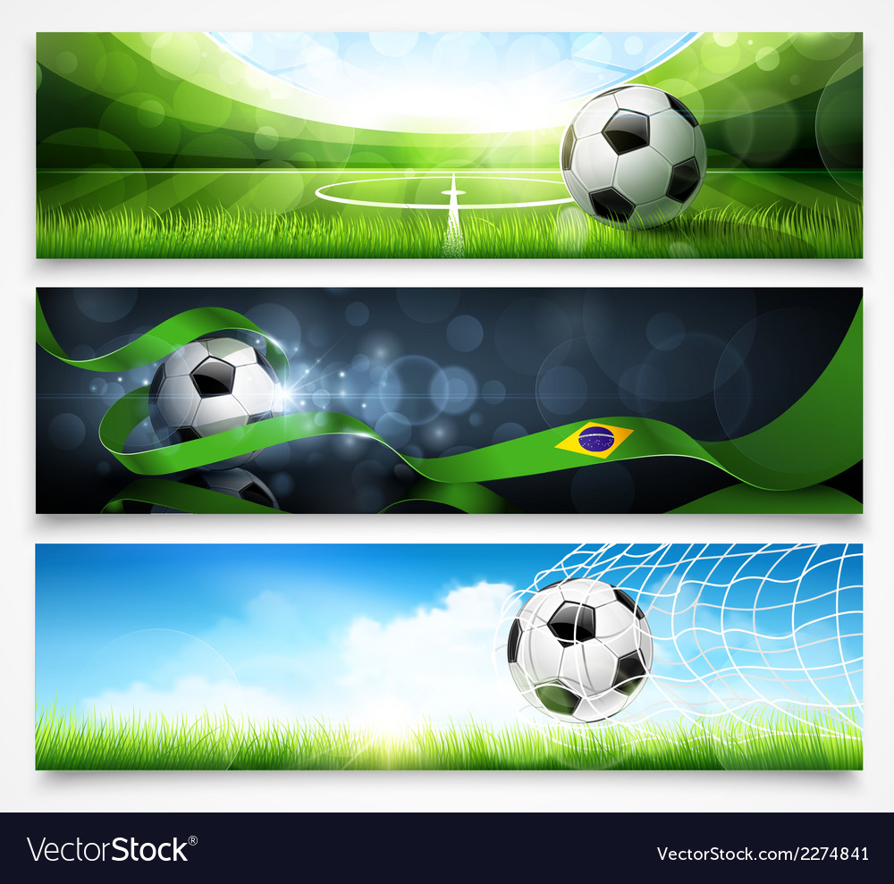 Set of football banners vector | Price: 3 Credit (USD $3)