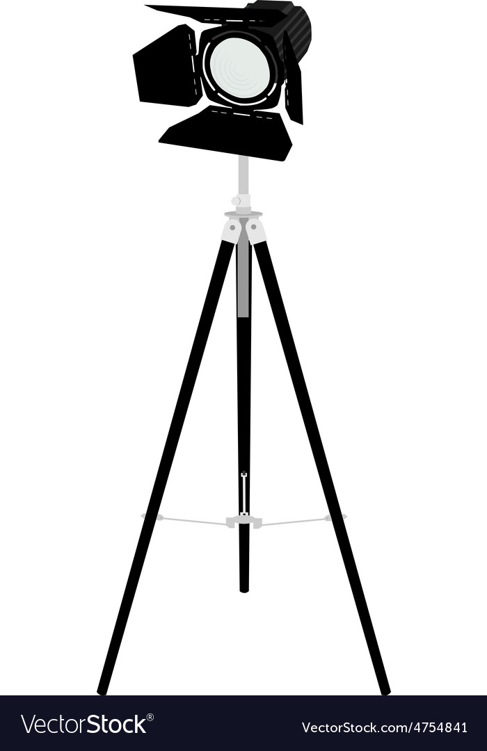 Spotlight on tripod vector | Price: 1 Credit (USD $1)