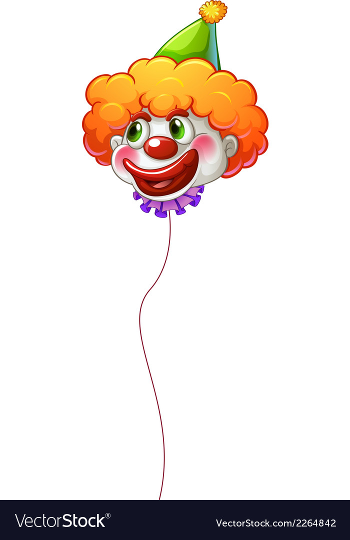 A colourful clown balloon with a string vector | Price: 1 Credit (USD $1)