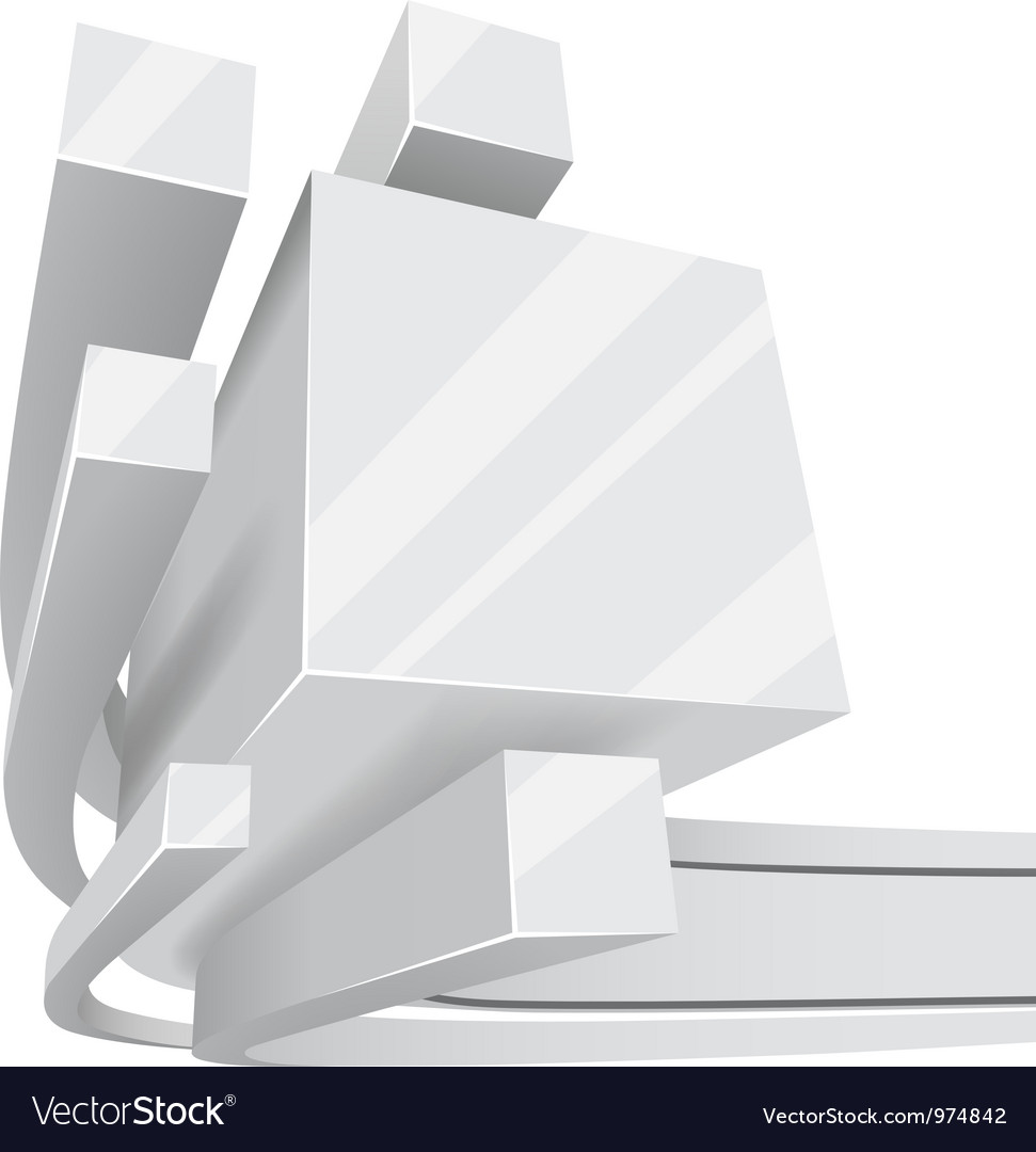 Abstract white 3d square rails background with vector | Price: 1 Credit (USD $1)