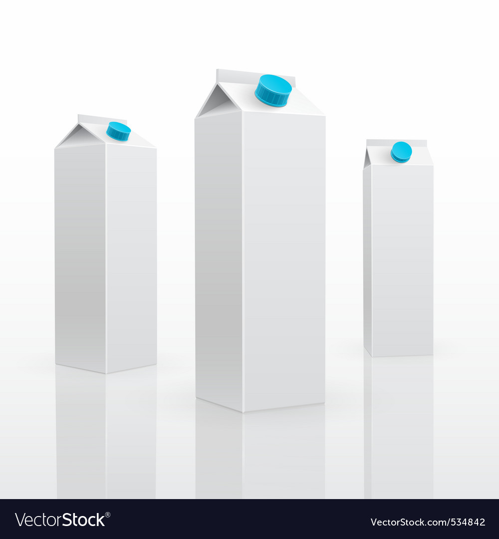 Blank milk or juice carton vector | Price: 1 Credit (USD $1)