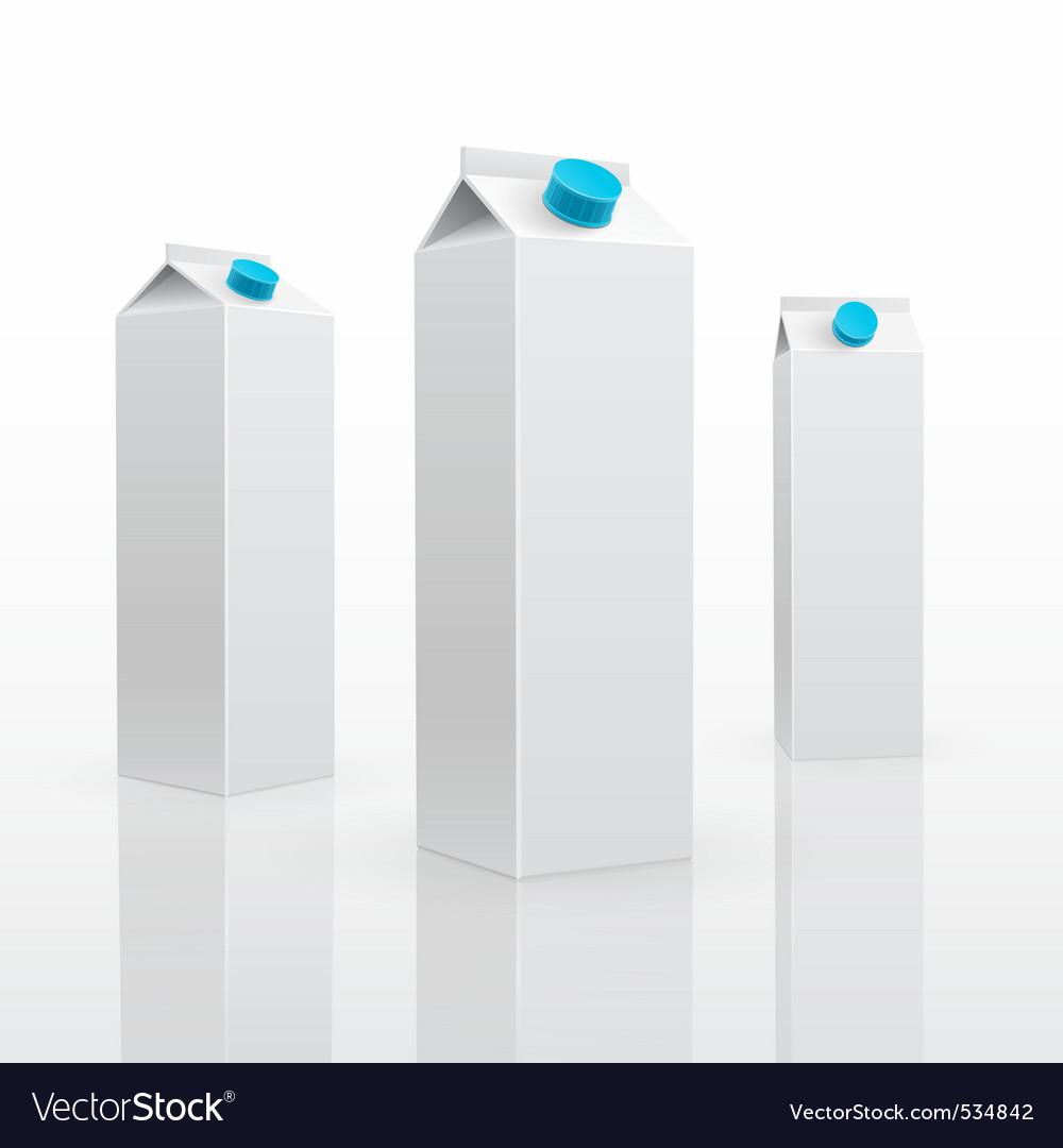 Blank milk or juice carton vector | Price: 1 Credit (USD $1)