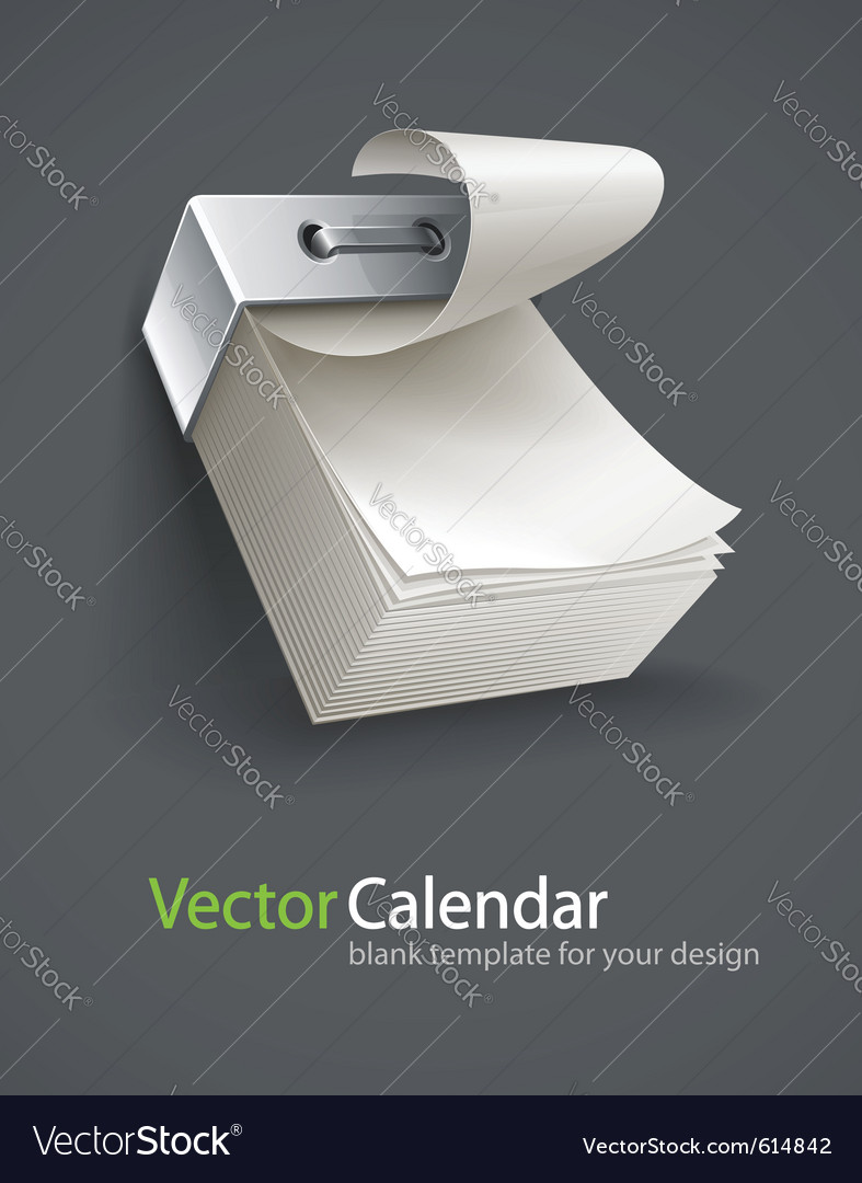 Blank tear-off paper calendar vector | Price: 3 Credit (USD $3)
