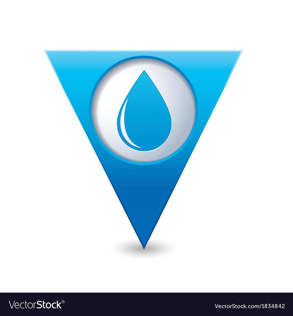 Drop icon map pointer blue vector   Price: 1 Credit (USD $1)