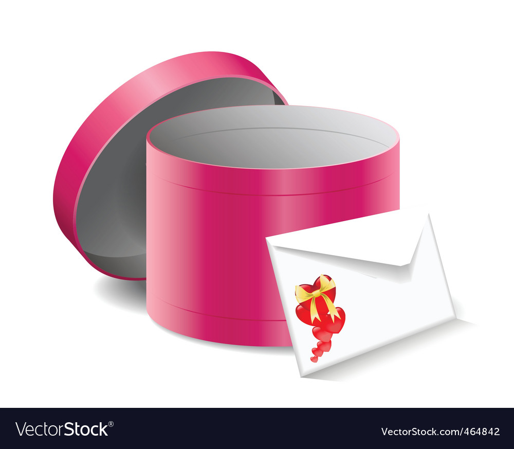 Gift box and a letter vector | Price: 1 Credit (USD $1)
