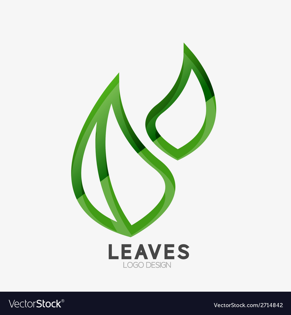 Green eco leaf logo vector | Price: 1 Credit (USD $1)