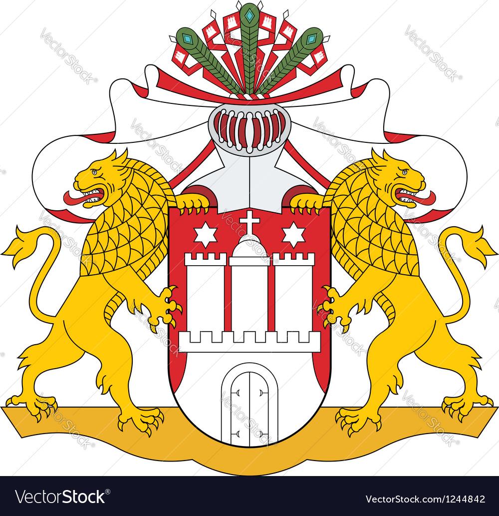 Hamburg coat of arms vector   Price: 3 Credit (USD $3)