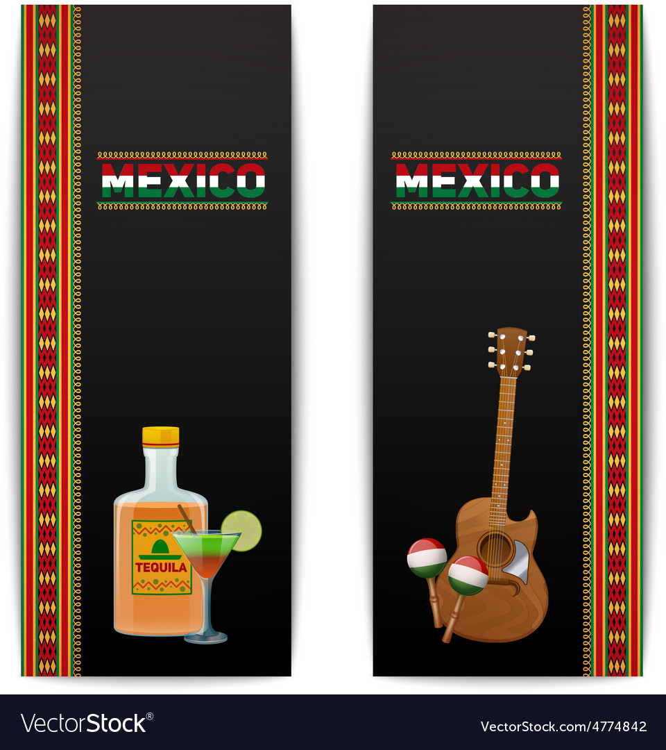 Mexican banners vertical vector | Price: 3 Credit (USD $3)