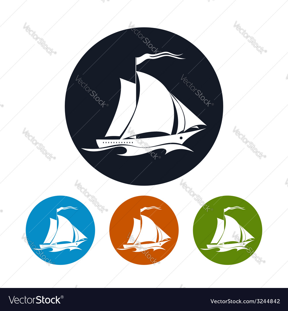 Sailing vessel icon vector | Price: 1 Credit (USD $1)