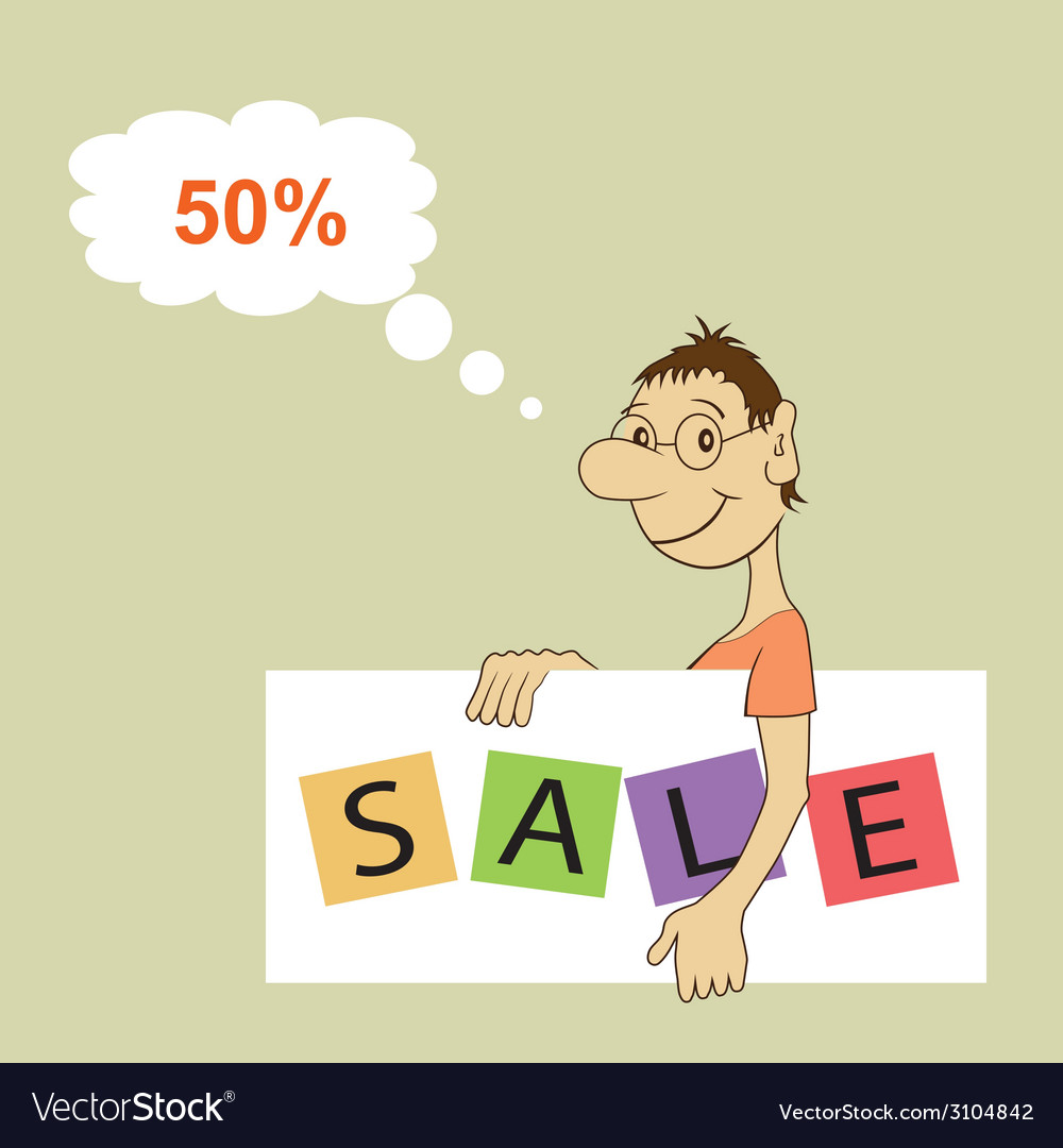 Sale promotion design template vector | Price: 1 Credit (USD $1)