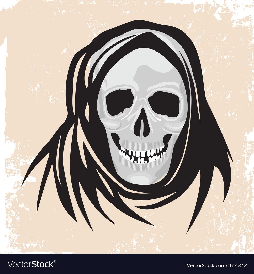 Scull death black monster halloween vector | Price: 1 Credit (USD $1)