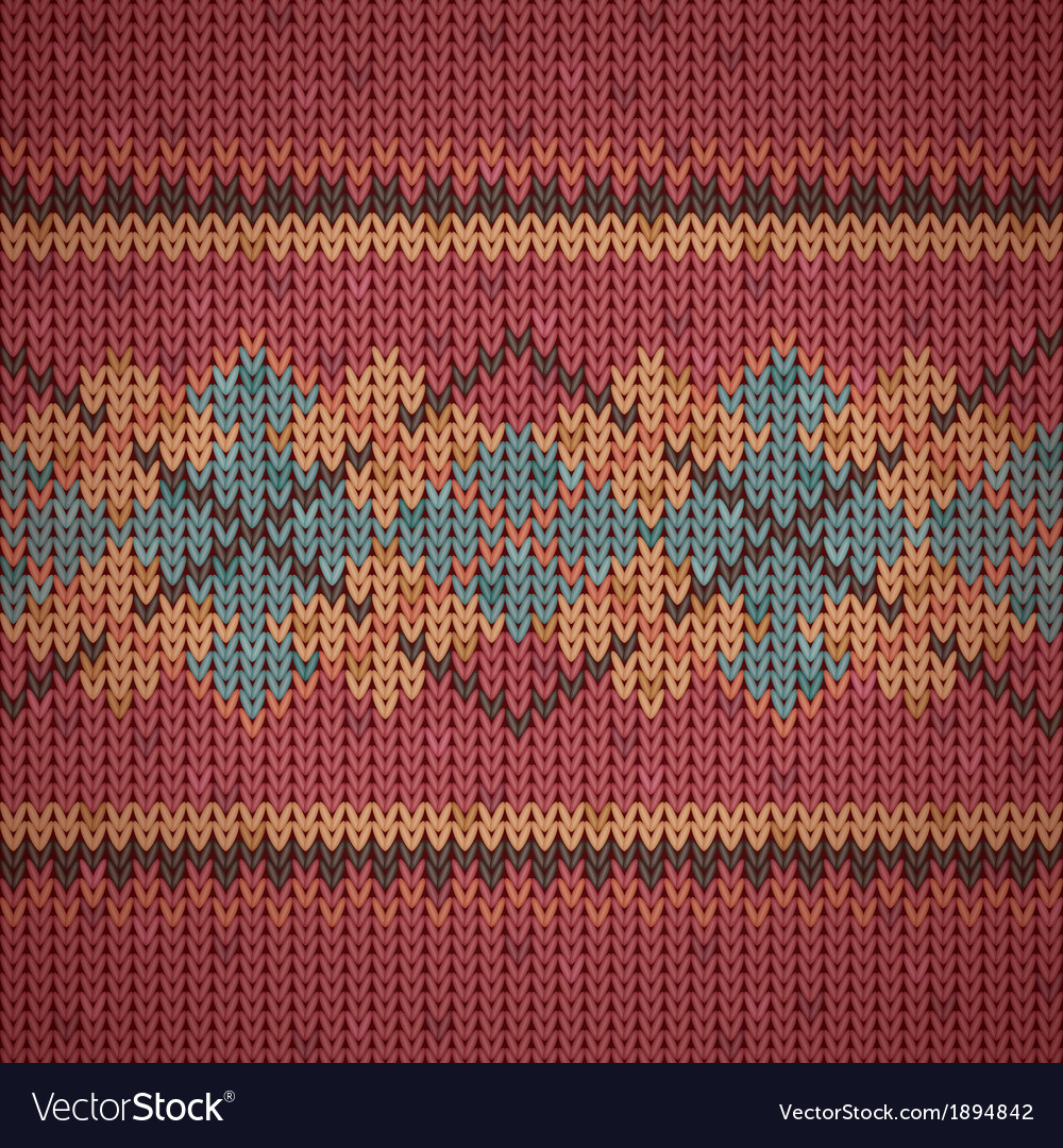 Seamless knitting background pattern vector | Price: 1 Credit (USD $1)