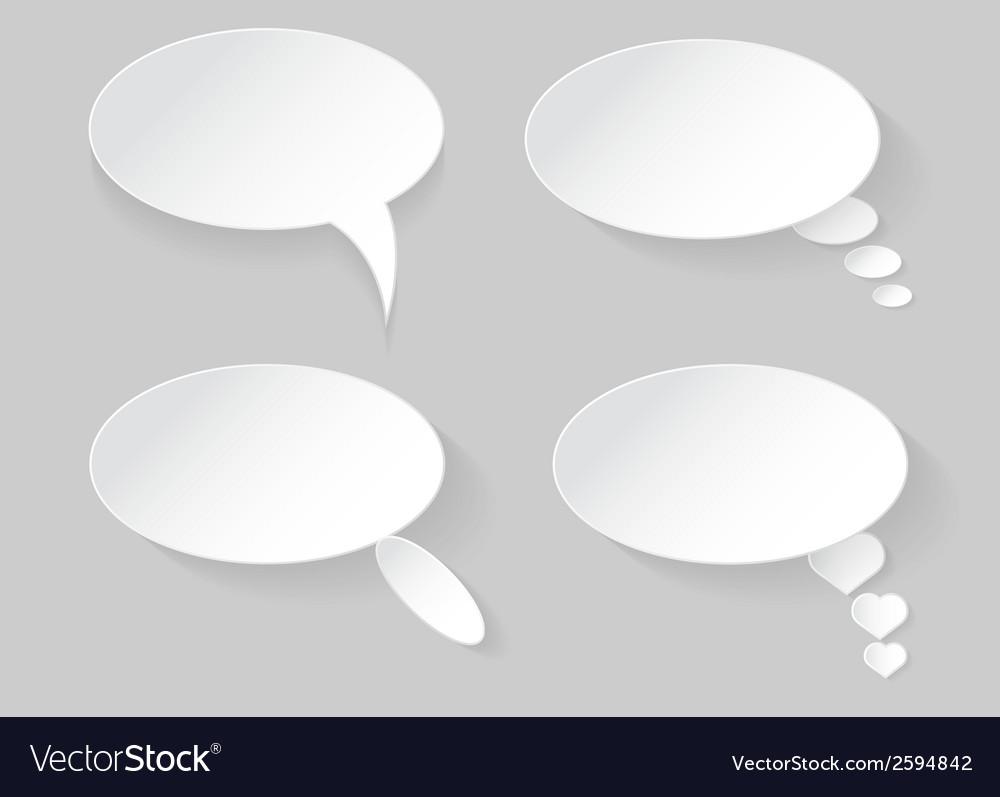 Speech bubble vector | Price: 1 Credit (USD $1)