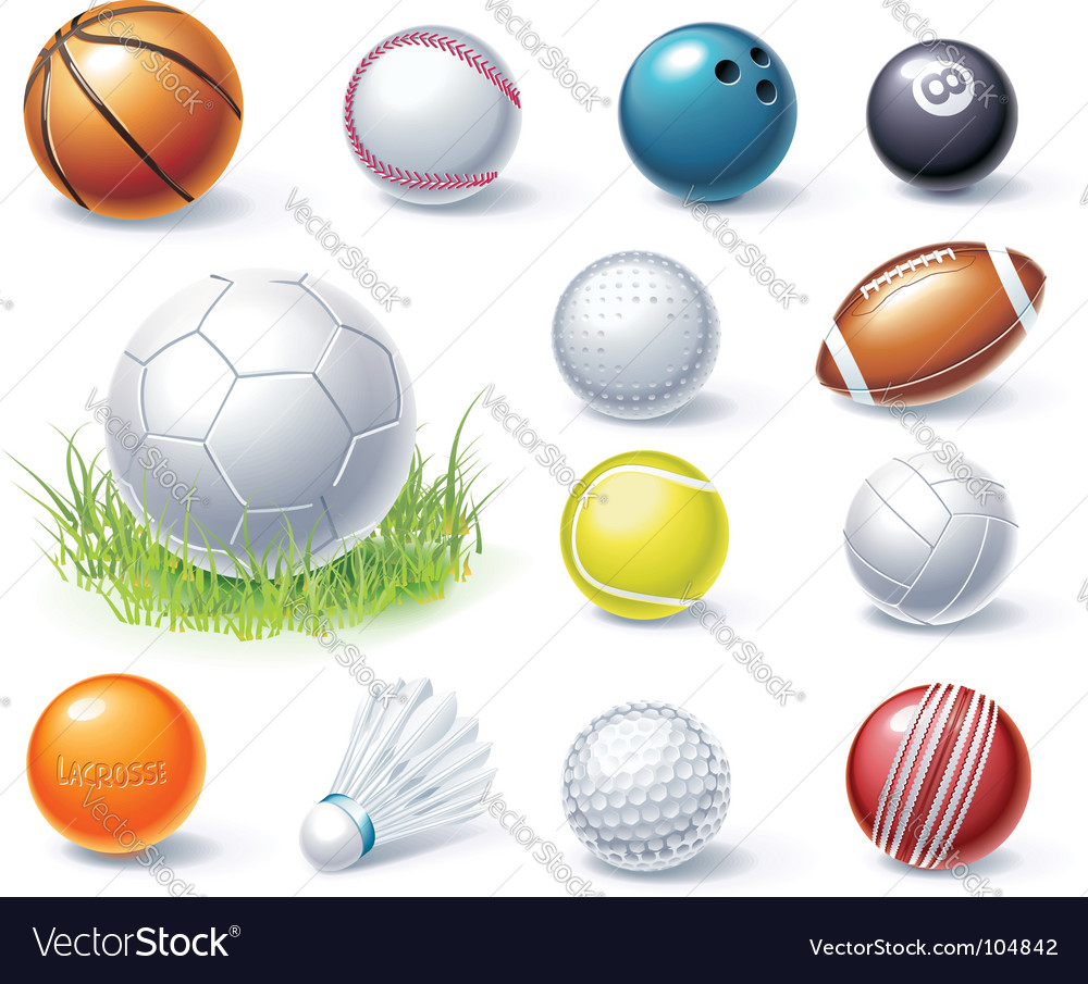Sport equipment icons vector | Price: 3 Credit (USD $3)