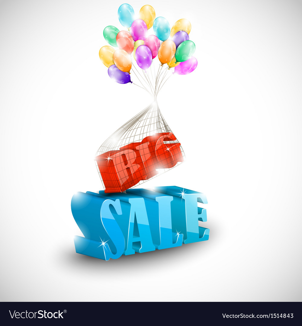 3d big sale with colorful bubbles vector | Price: 1 Credit (USD $1)
