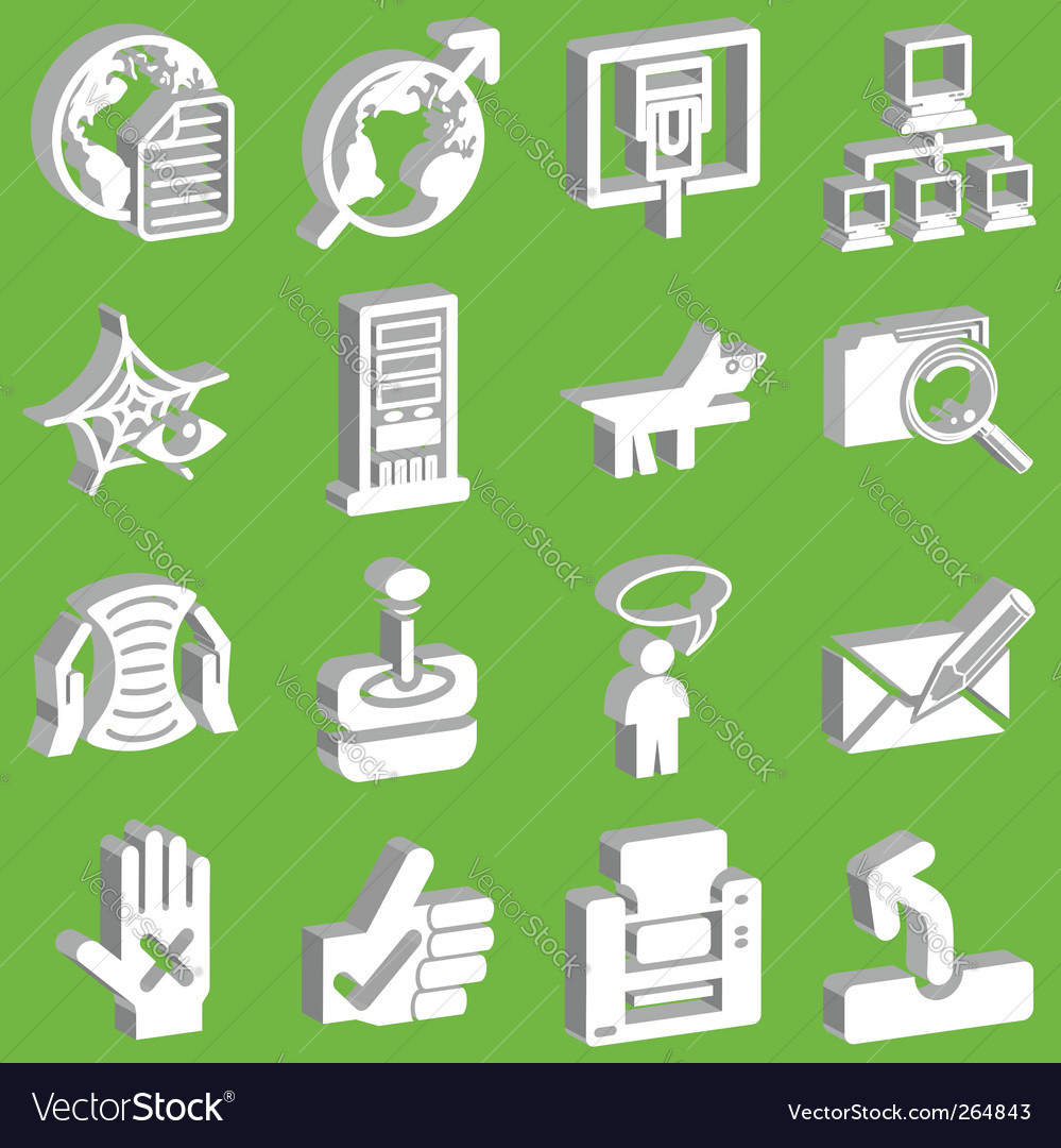 3d internet web icons vector   Price: 1 Credit (USD $1)