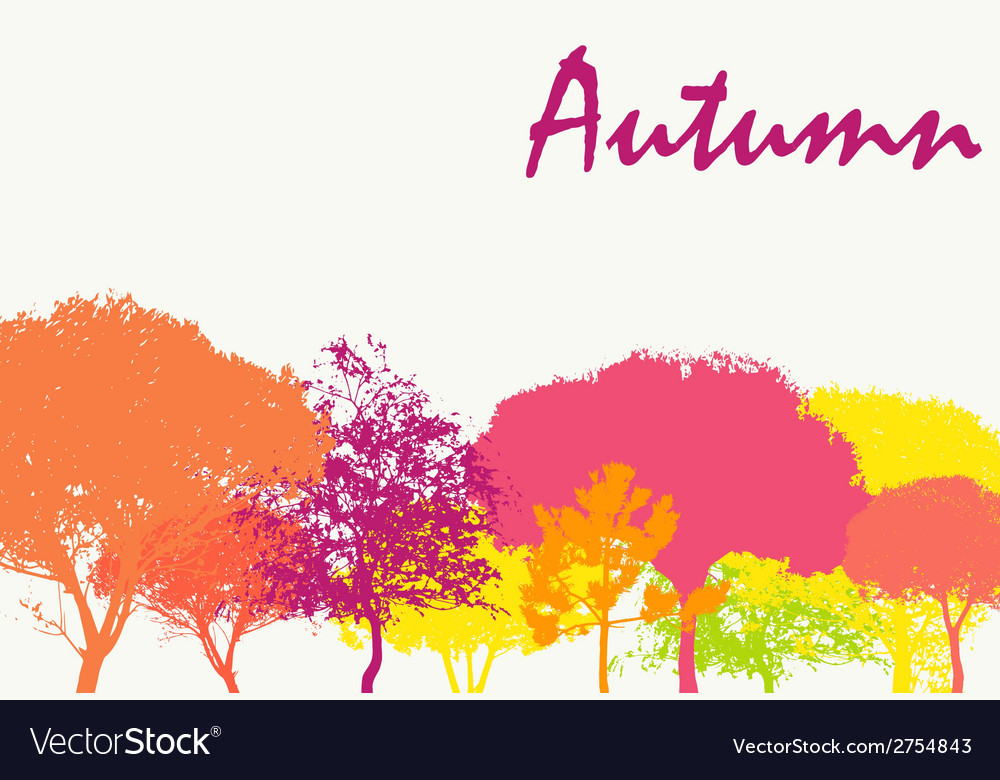 Abstract autumn natural background vector | Price: 1 Credit (USD $1)