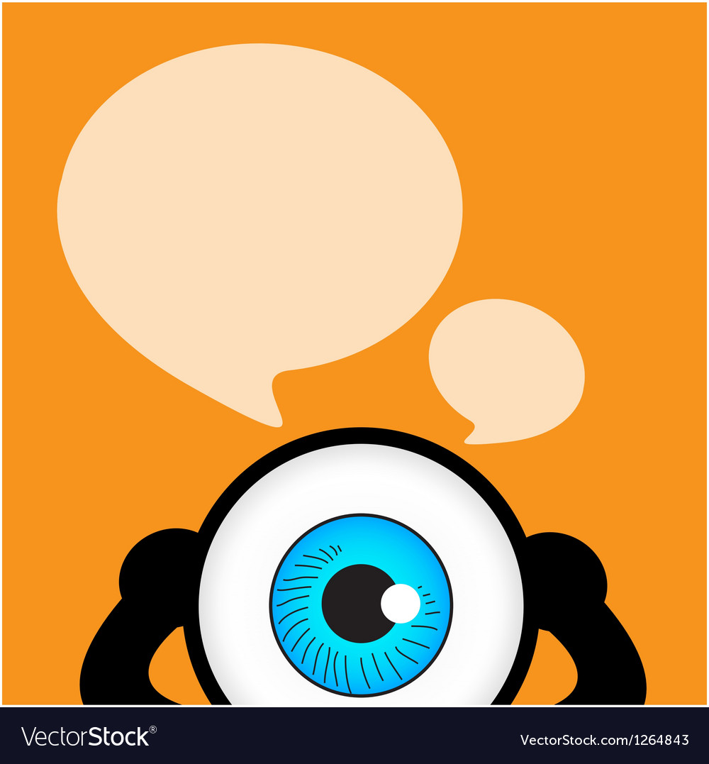 The blue eye talk with bubble quote vector | Price: 1 Credit (USD $1)