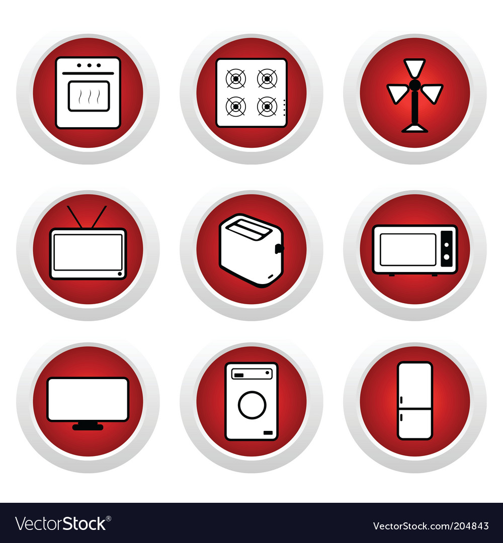 Digital appliance icons vector | Price: 1 Credit (USD $1)