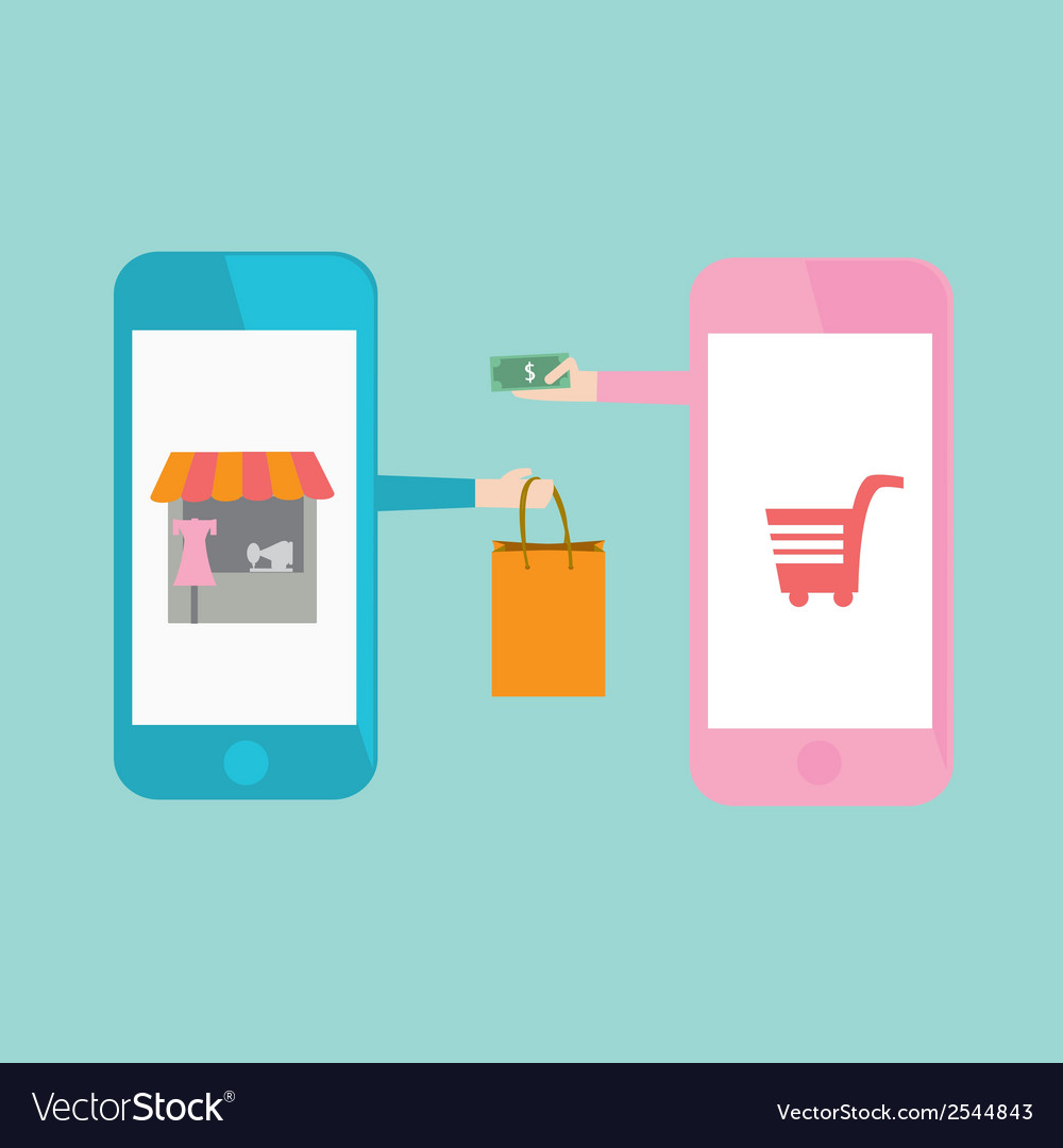 Eshopping vector | Price: 1 Credit (USD $1)