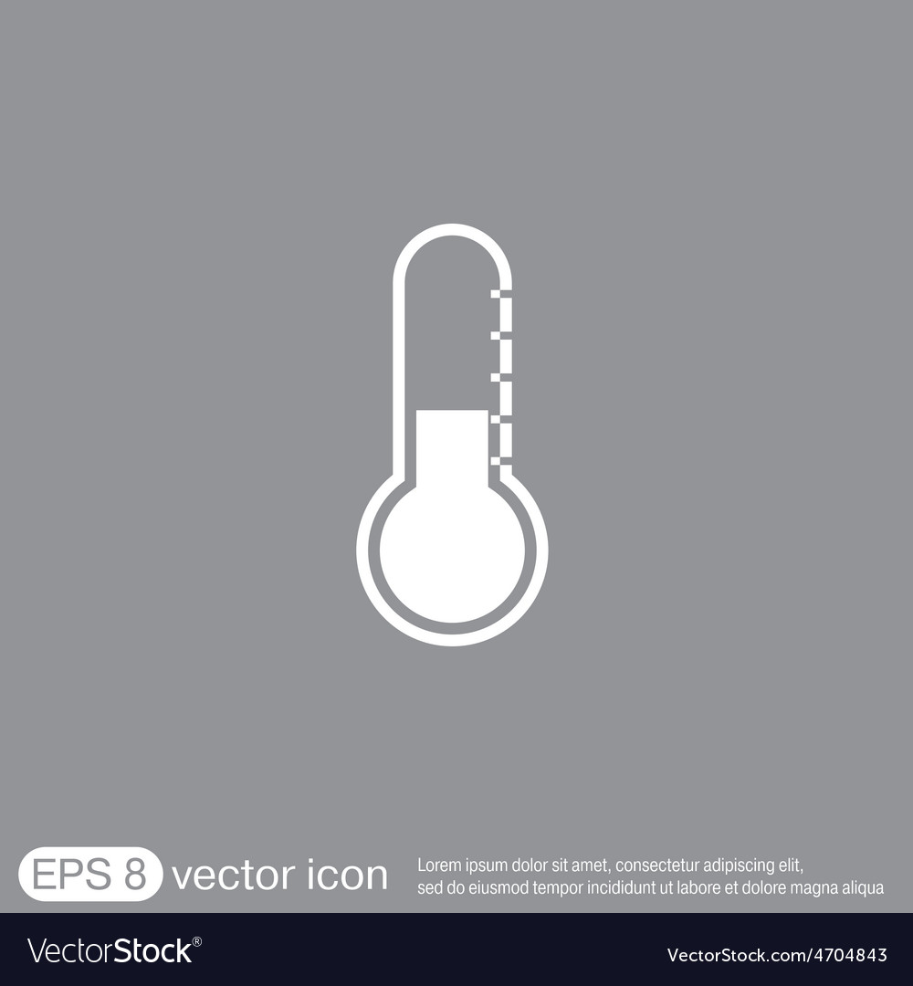 Thermometer icon temperature symbol vector | Price: 1 Credit (USD $1)