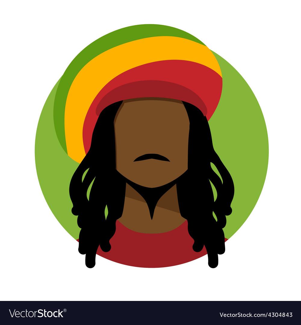 Rastafarian man vector | Price: 1 Credit (USD $1)
