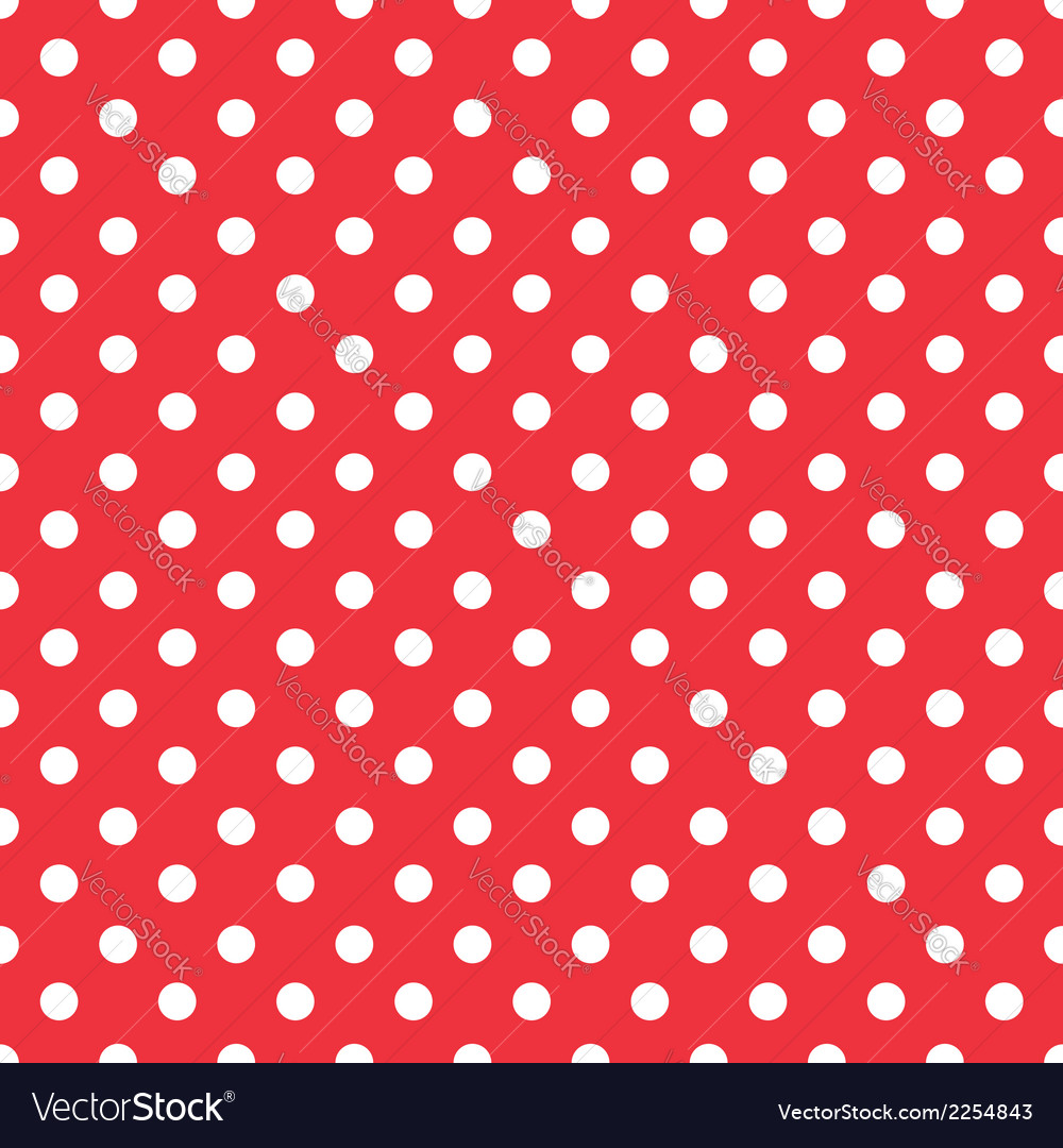 Red background polka fabric with white dots vector | Price: 1 Credit (USD $1)