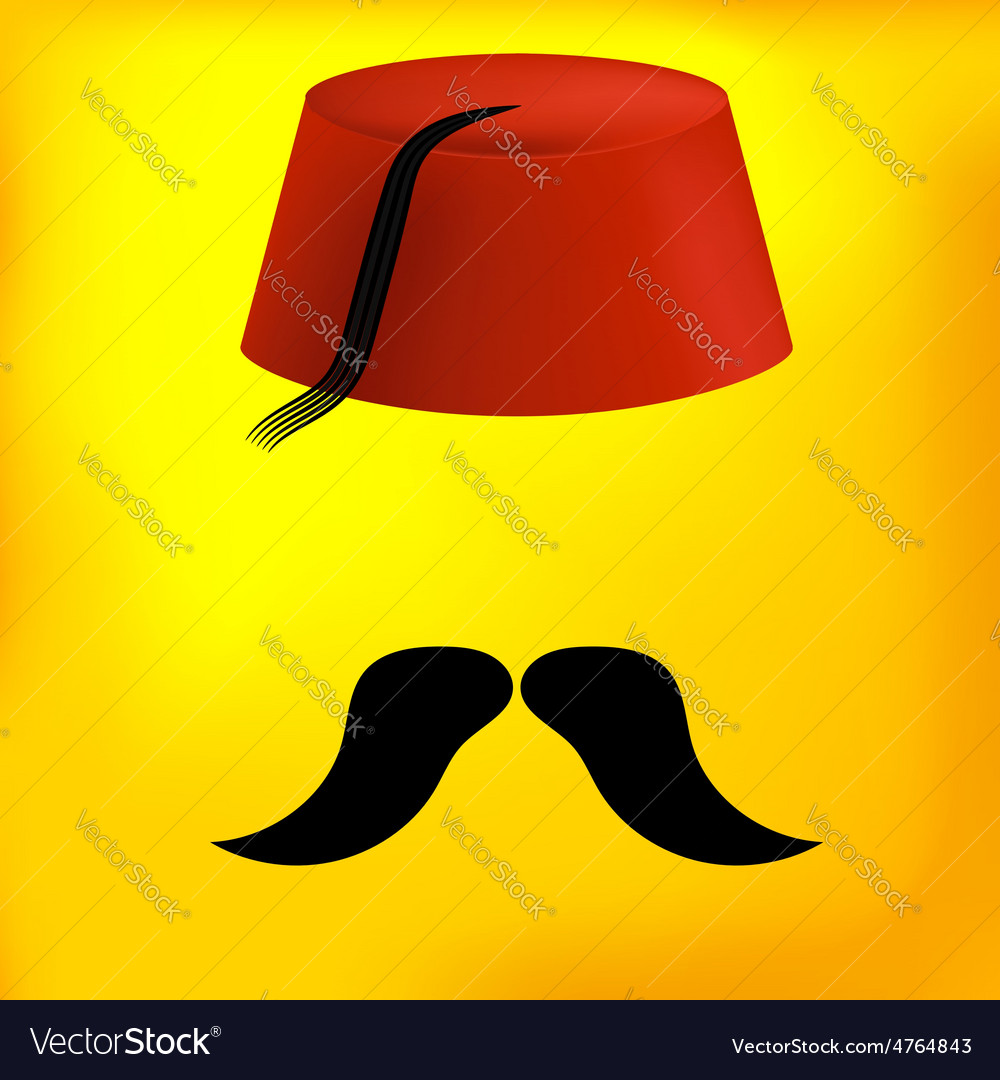 Red turkish hat vector | Price: 1 Credit (USD $1)