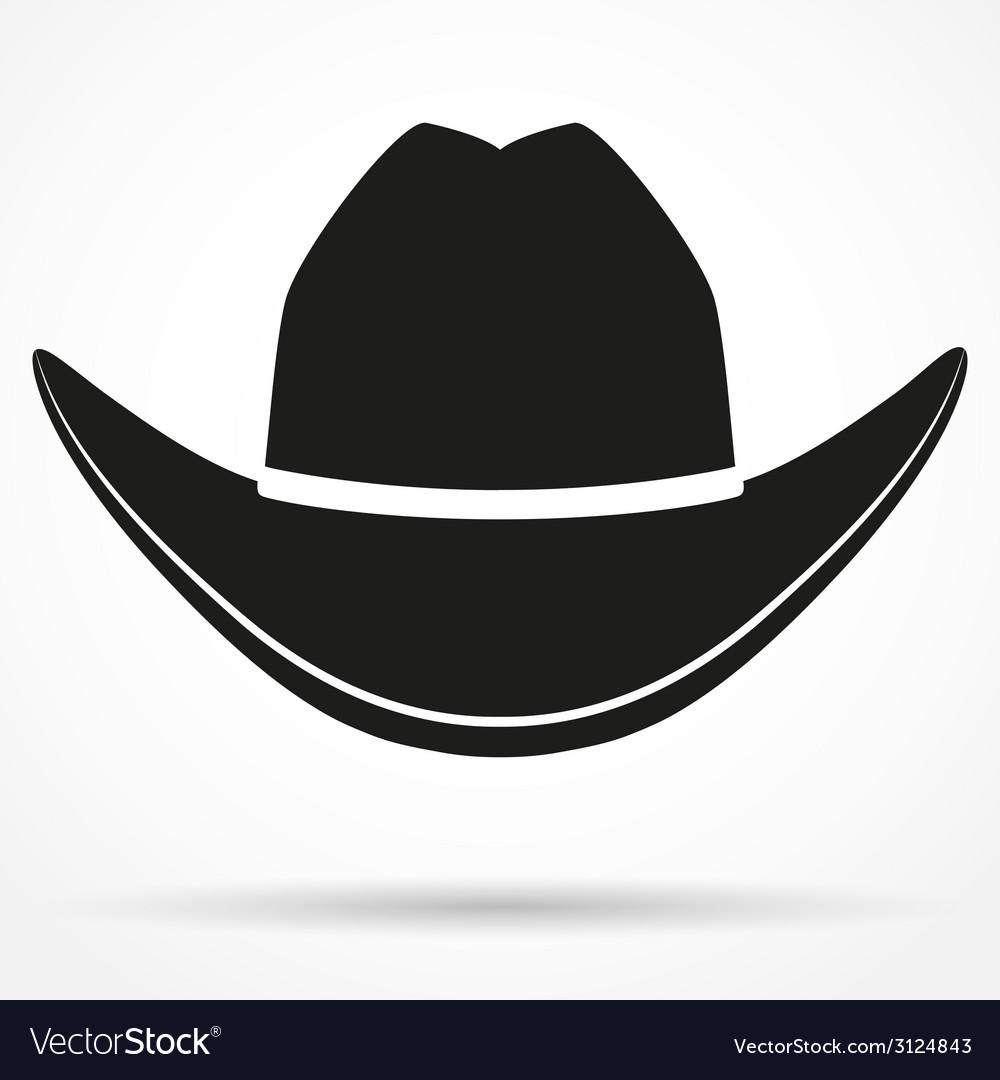 Silhouette symbol of cowboy hat vector | Price: 1 Credit (USD $1)
