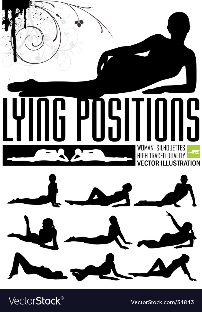 Woman in lying positions vector