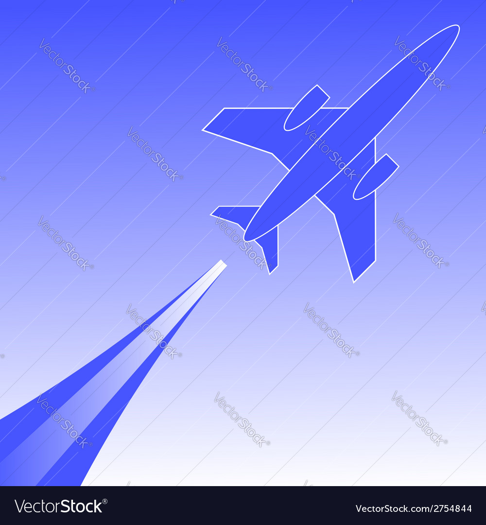 Airplane in flight vector | Price: 1 Credit (USD $1)