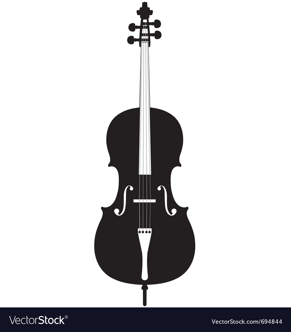 Cello silhouette vector | Price: 1 Credit (USD $1)