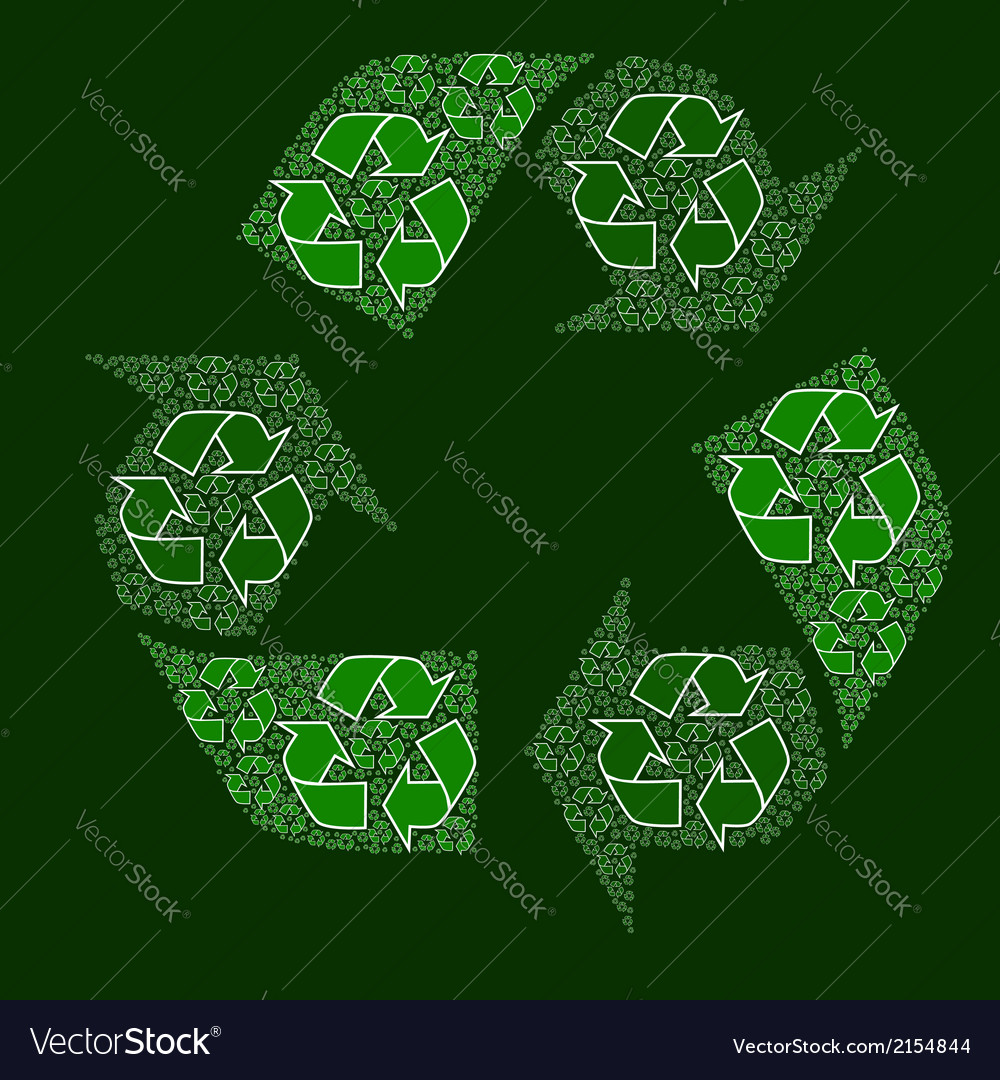 Composite recycling sign vector | Price: 1 Credit (USD $1)
