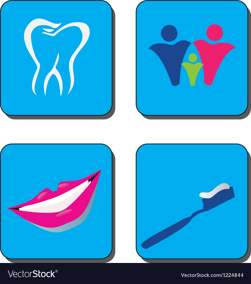 Dental care logo vector | Price: 1 Credit (USD $1)