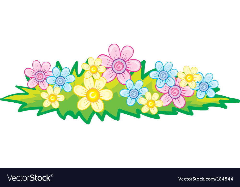 Flowerbed vector | Price: 1 Credit (USD $1)