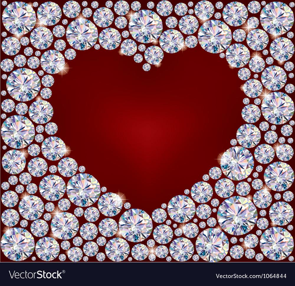 Heart of diamonds vector | Price: 1 Credit (USD $1)