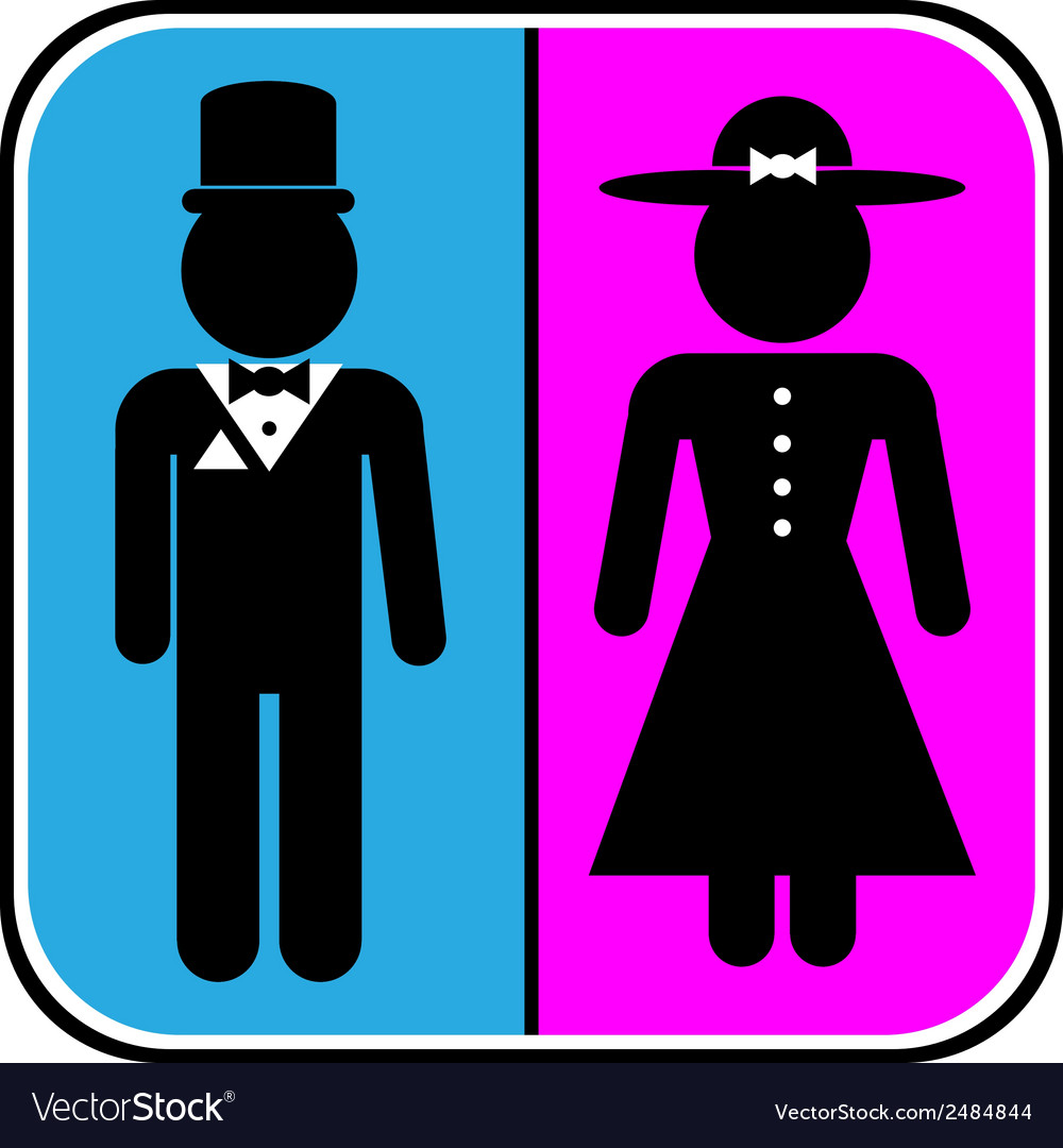 Icons of men and women vector | Price: 1 Credit (USD $1)