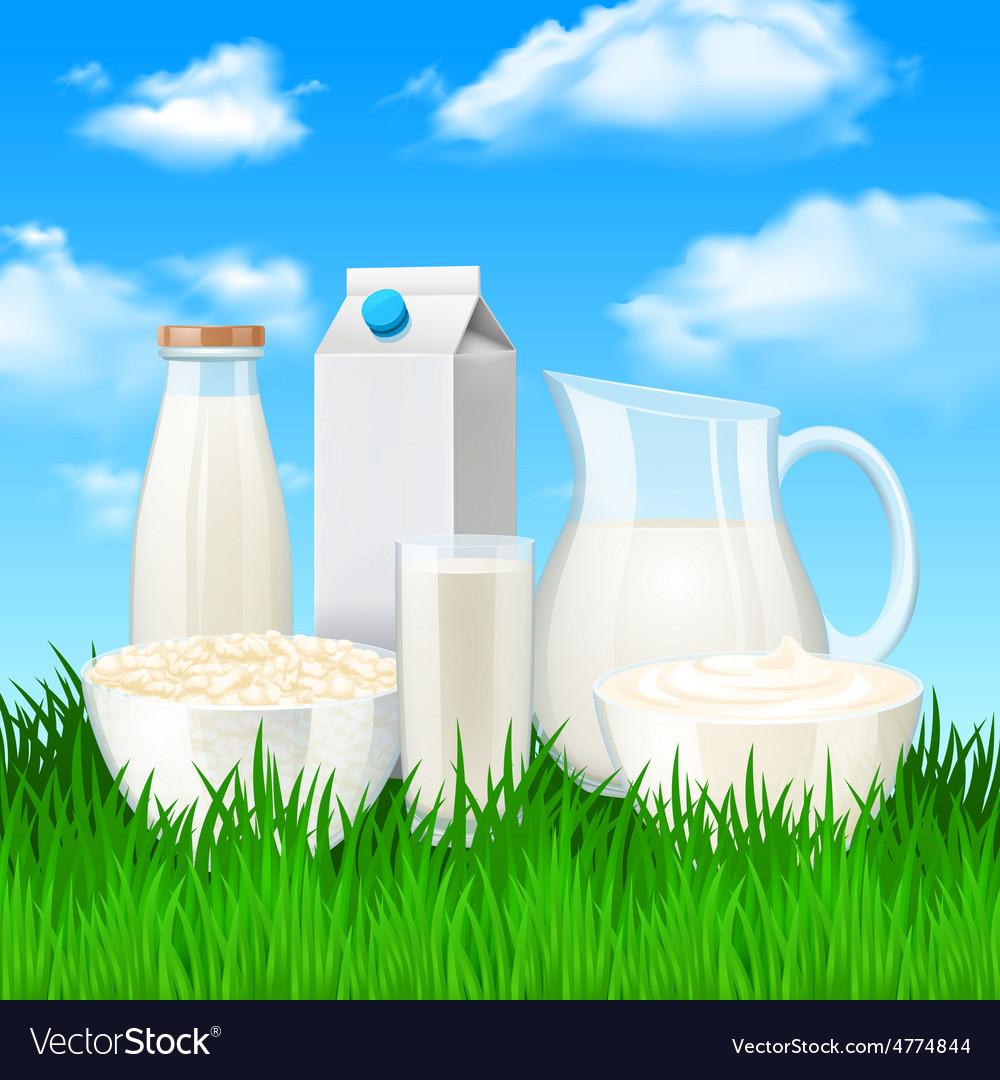 Milk products vector | Price: 3 Credit (USD $3)