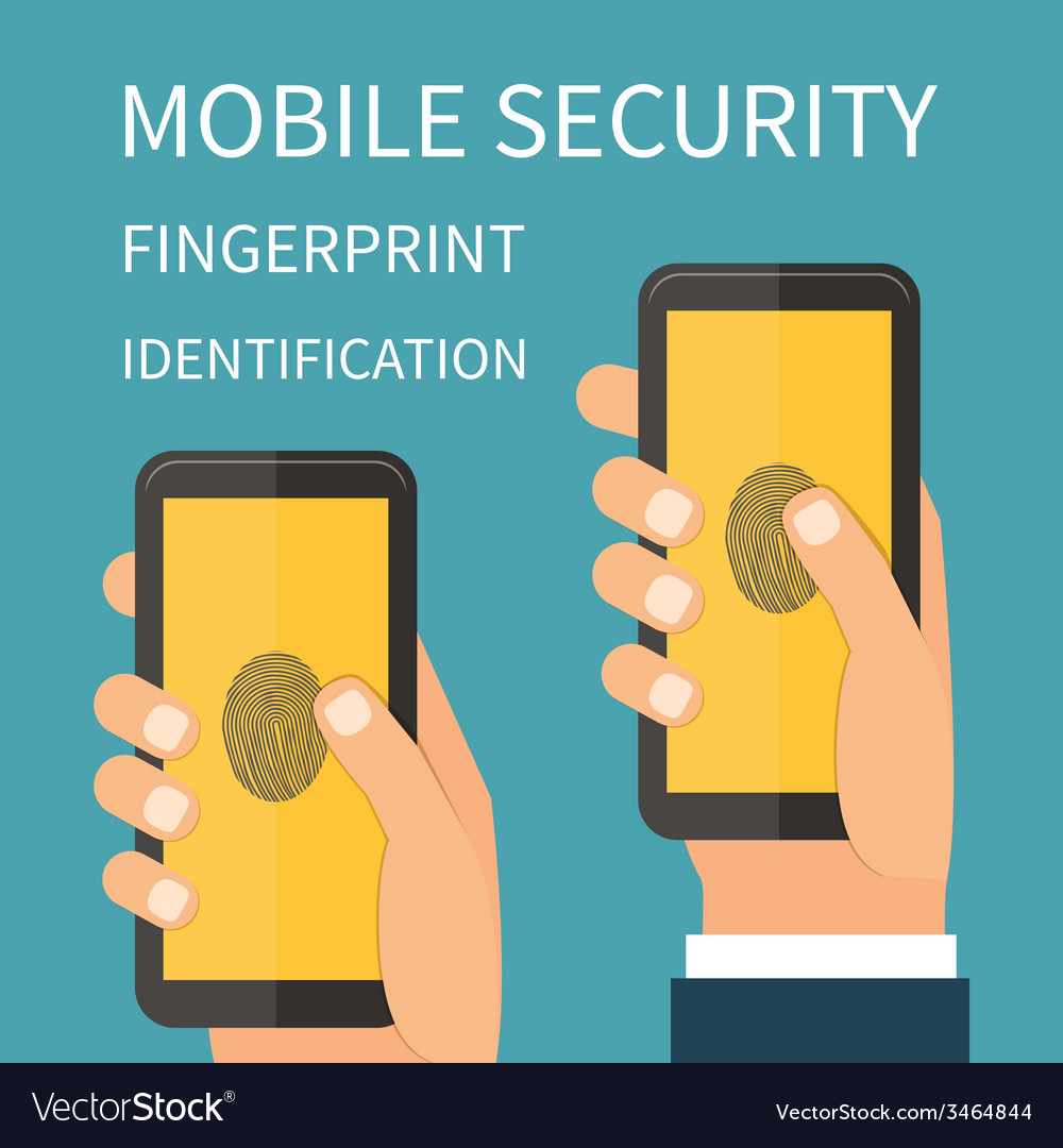 Mobile internet secutiry fingerprint vector | Price: 1 Credit (USD $1)