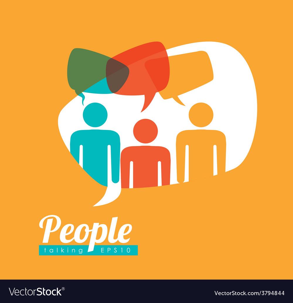 People speech vector | Price: 1 Credit (USD $1)