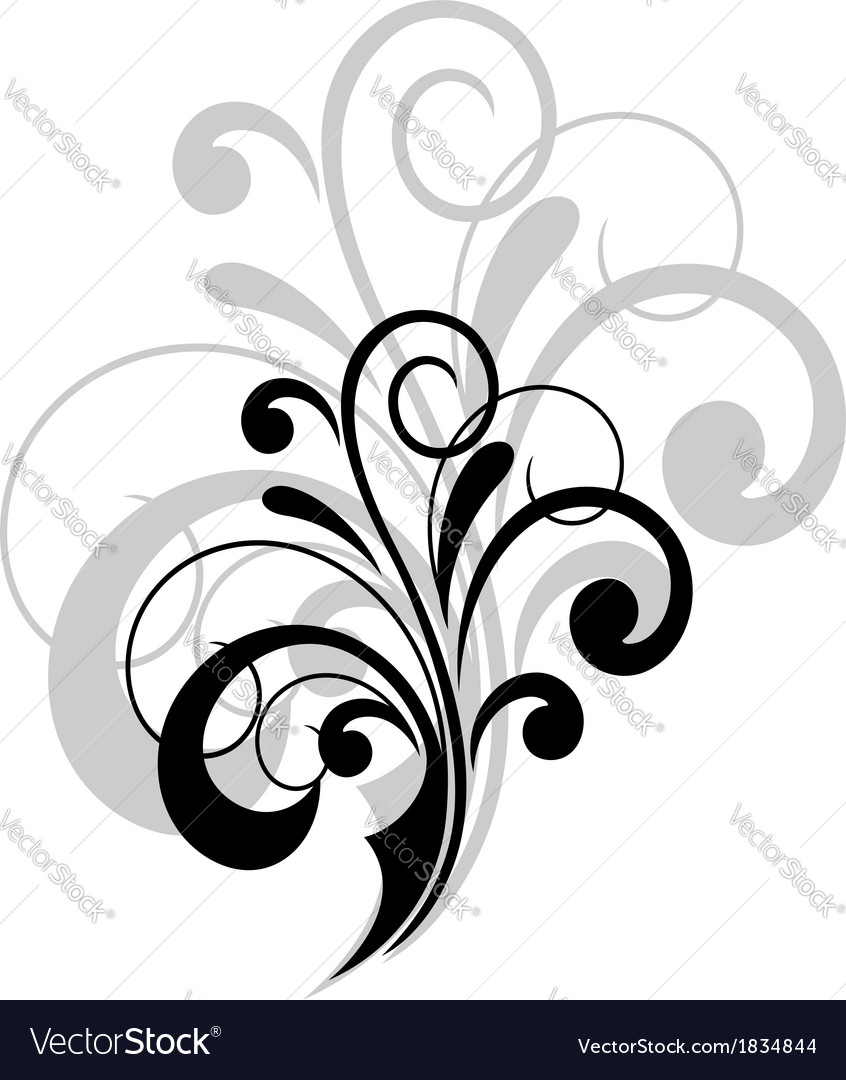 Simple swirling calligraphic design vector | Price: 1 Credit (USD $1)