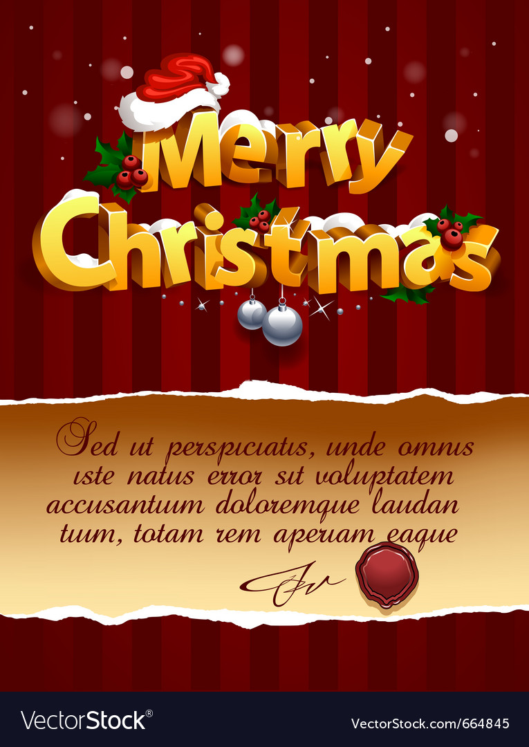 3d christmas lettering vector | Price: 1 Credit (USD $1)