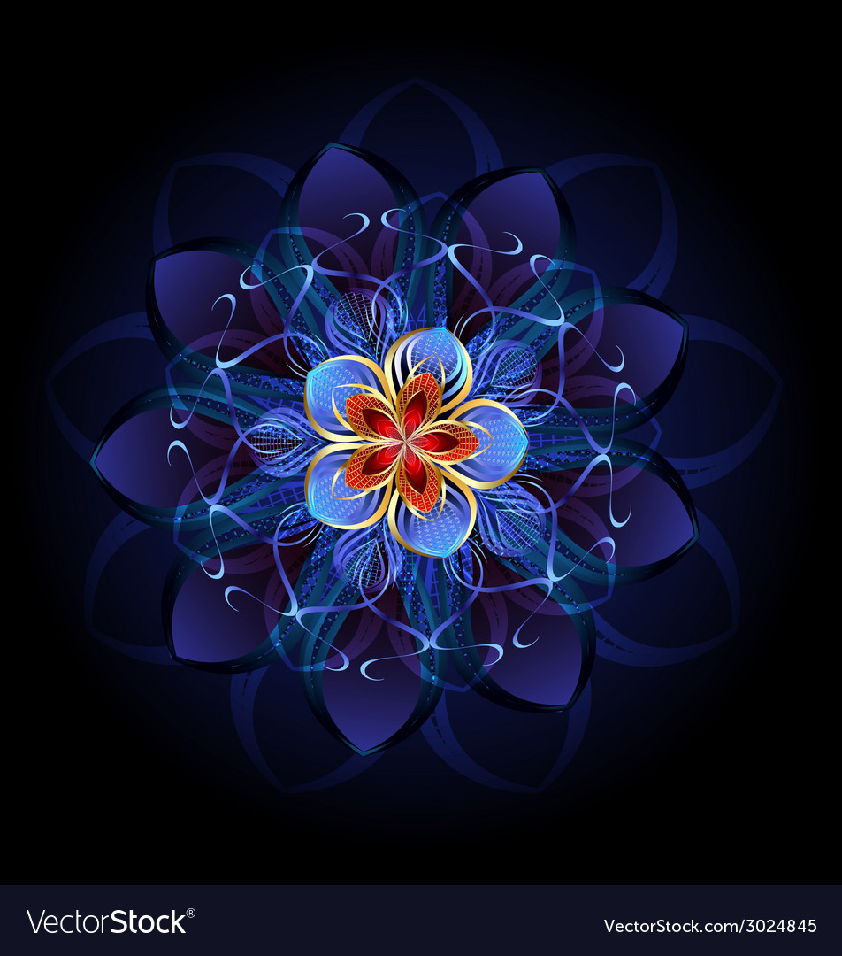 Abstract dark flower vector | Price: 1 Credit (USD $1)